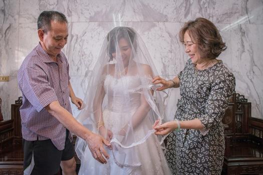 自宅迎娶-新娘蓋頭紗