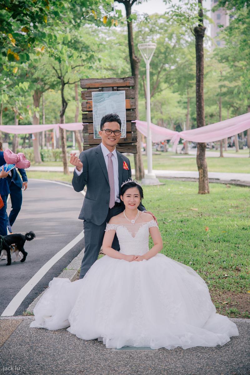 集團婚禮的新人