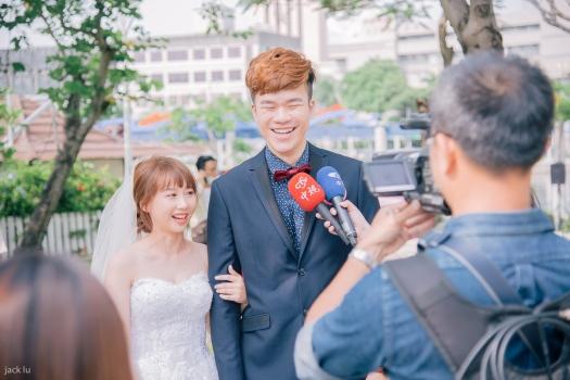 新聞採訪集團婚禮新人
