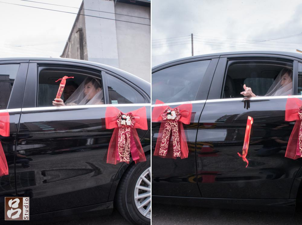 新娘丟扇子畫面