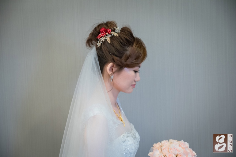 新娘白紗造型 側臉