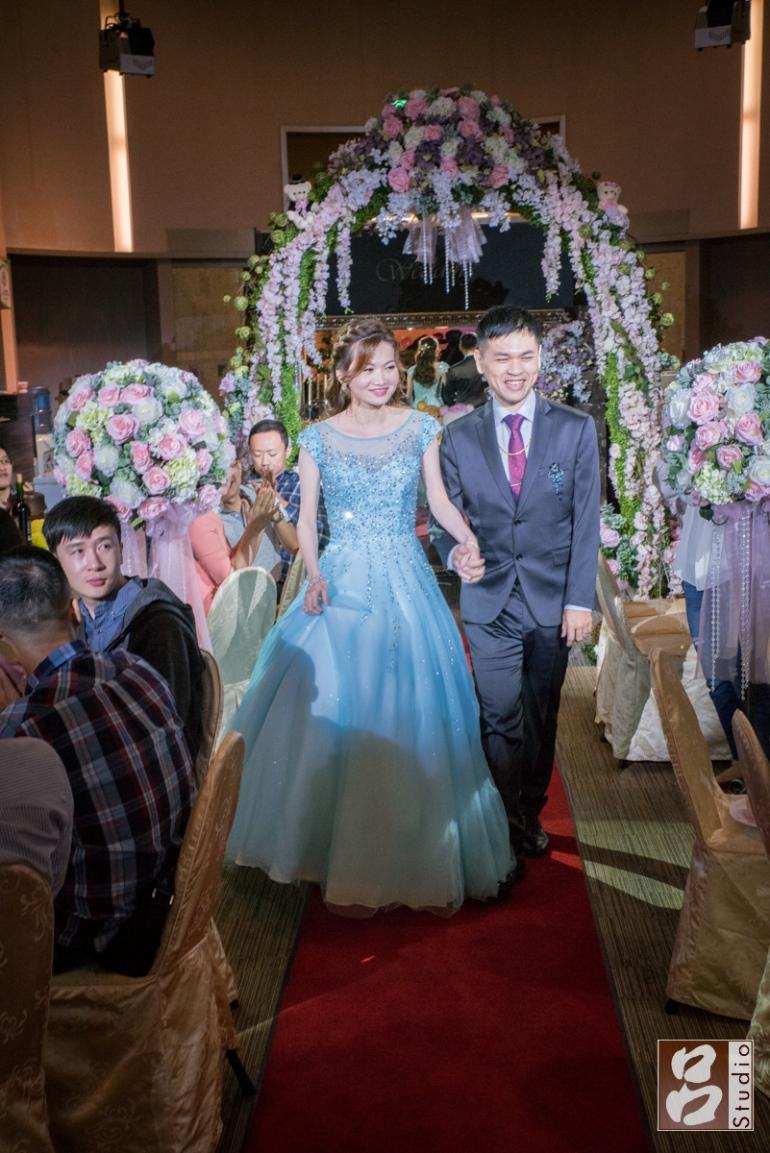 新娘二進水藍色禮服