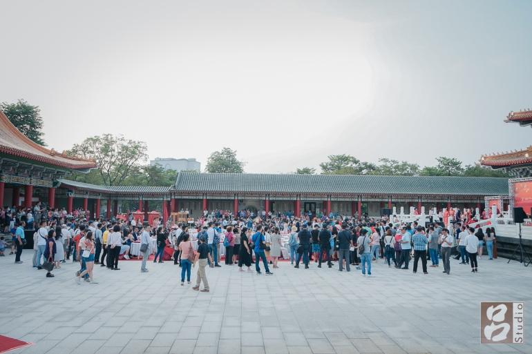 孔廟的觀禮人潮