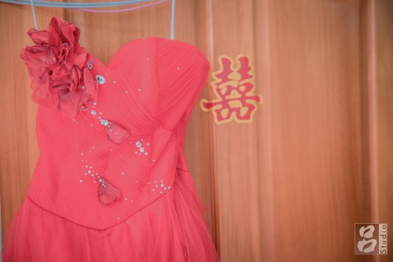 新娘紅色晚禮服