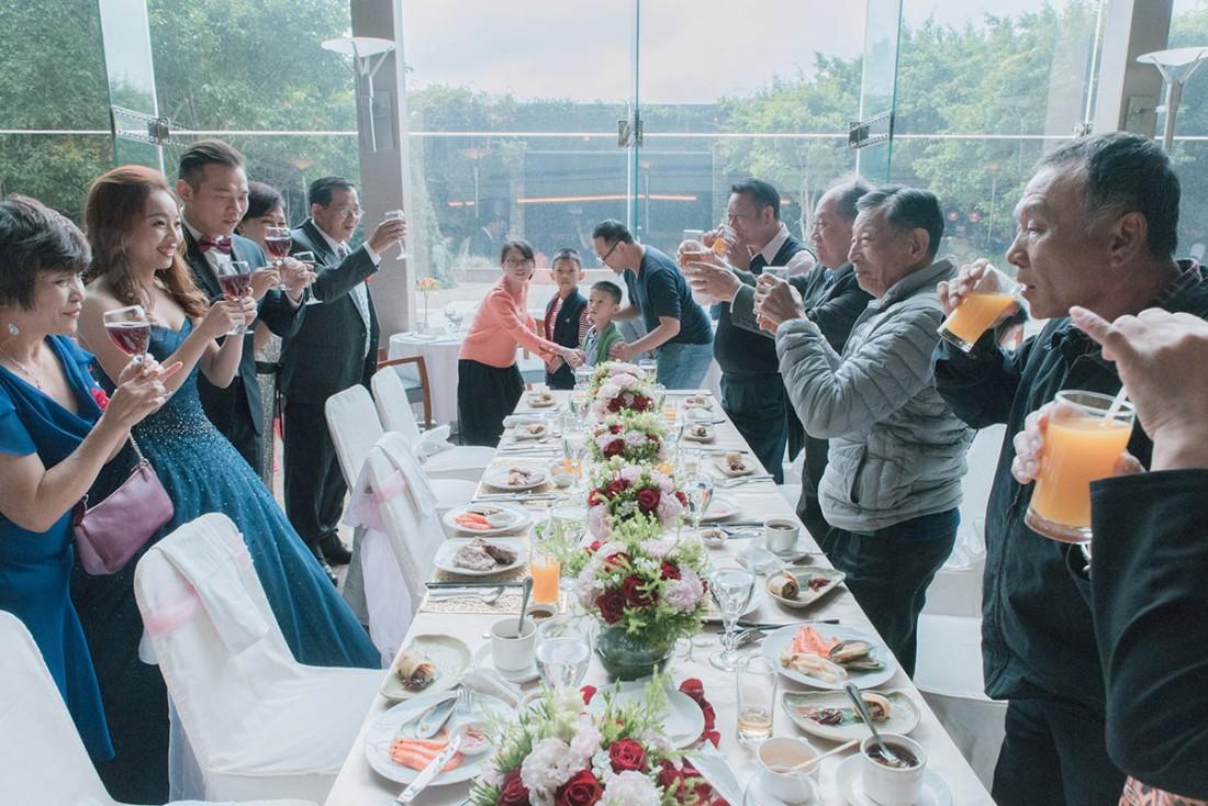 美式婚禮用餐