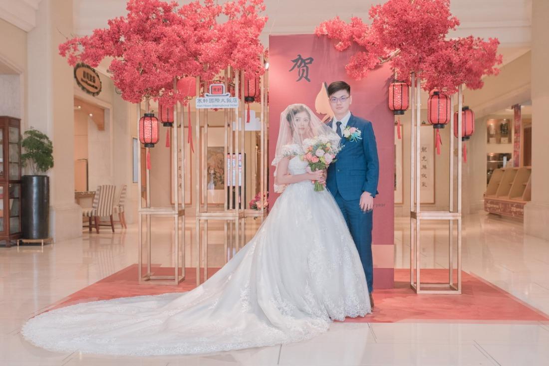 寒軒四維大廳拍新娘合照