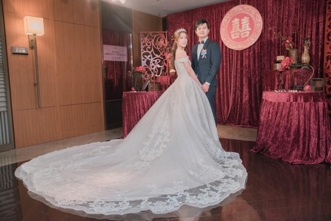 新娘新郎在台南香格里拉喜宴