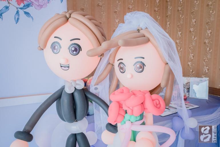 新娘新郎氣球人