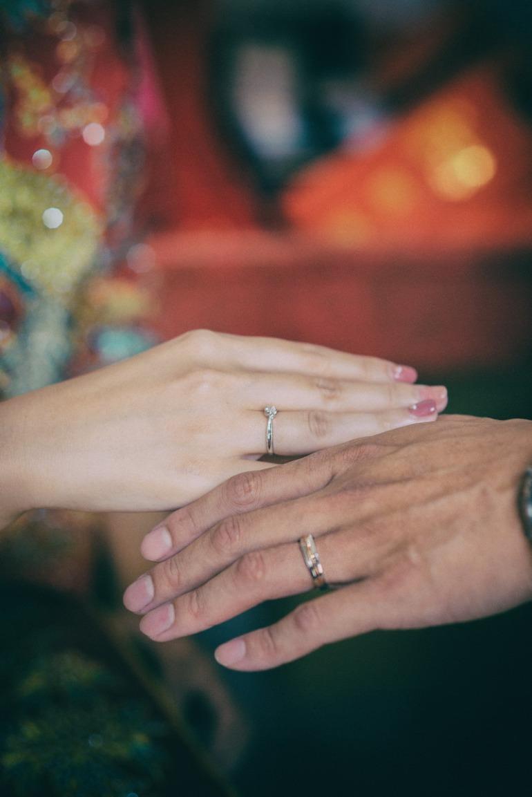 訂婚儀式的交換戒子