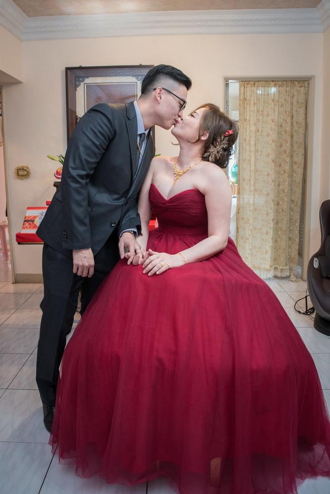 訂婚儀式後的新人合照